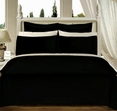 """Black Olympic Queen Solid Bed in A Bag 90x92"""" Egyptian cotton With Down Alternative Comforter"""