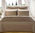 """Taupe Olympic Queen Solid Bed in A Bag 90x92"""" Egyptian cotton With Down Alternative Comforter"""
