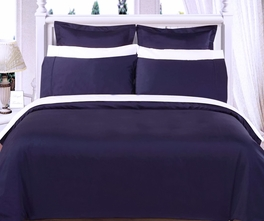 FULL Size 8PC Solid NAVY 550TC Egyptian cotton Bed in a Bag
