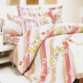 [Pink Princess] 100% Cotton 5PC Comforter Set (Queen Size)