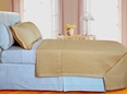 Gold Checkered Coverlet Set 3PC Egyptian cotton 400 Thread count(Full/Queen Size)