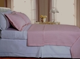 Blush/Pink Checkered Coverlet Set Egyptian cotton 400 Thread count Reversable(Full/Queen Size)