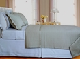 Beige Tan Checkered Coverlet Set Egyptian cotton 400 Thread count Reversable(King/Calking Size)