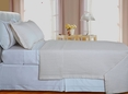 Ivory Checkered Coverlet Set Egyptian cotton 400 Thread count Reversable(King/Calking Size)