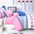 [Pink Abstract] 100% Cotton 7PC Bed In A Bag (Full Size)