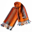 Pa-301-3 Exquisite Stripes Nation totem Revitalized Style Tassel Ends Silk Pashmina/Shawl/Scarf