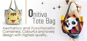 Onitiva Tote Bags Aesthetics and Functionality Combined. Colorful and lovely design with highest quality.