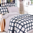 [Red Black Plaid] 100% Cotton 5PC Comforter Set (Queen Size)