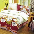 [Early Peony] 100% Cotton 4PC Duvet Cover Set (Queen Size)