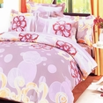 [Misty Roses] 100% Cotton 4PC Duvet Cover Set (King Size)