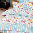 [Blooming Flowers] 100% Cotton 4PC Duvet Cover Set (Queen Size)