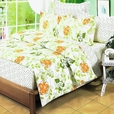[Summer Leaf] 100% Cotton 4PC Duvet Cover Set (Full Size)