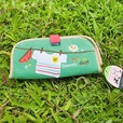 [Sunny day] Embroidered Applique Fabric Art Wallet Purse / Card Holder / ID Holder (7.1*3.7)
