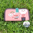 [Happy With You] Embroidered Applique Fabric Art Wallet Purse / Card Holder / ID Holder (7.1*3.7)