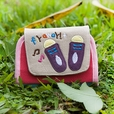 [Fly Away] Embroidered Applique Card Holder / ID Holder / Coin Purse Wallet (4.6*3.5)