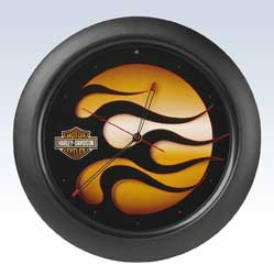 Harley-Davidson Flames Clock with Sound Chip