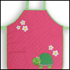Girl Turtle Pink Quilted Apron by Stephen Joseph