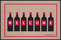 Wine Bottle Welcome Doormat