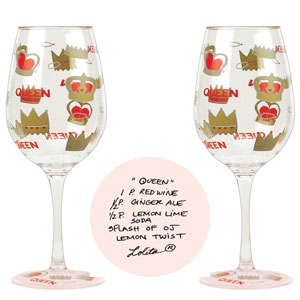 Lolita Queen Acrylic Wine Glass Set