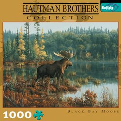 Black Bay Moose, Hautman Brothers Collection 1000 Piece Jigsaw Puzzle