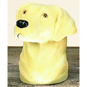 Yellow Lab Trailer Ball Cover