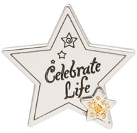Celebrate Life Silver Star Key Finder
