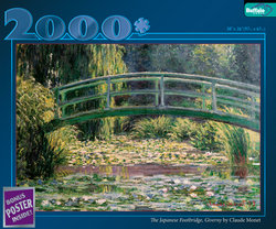 "Claude Monet's ""The Water Lily Pond"" - 2000 Piece Puzzle"