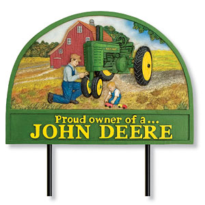 Proud Owner of a John Deere Wall Plaque
