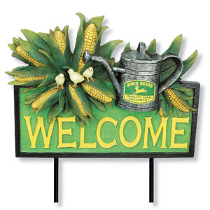 John Deere Welcome Yard Stake