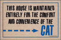 This House is Maintained...Cat Doormat-Discontinued