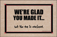 We're Glad You Made It Doormat