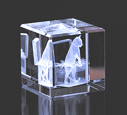 Kitten in Gift Box Crystal Impressions