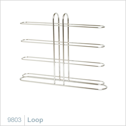 Loop Modern Chrome Wine Rack