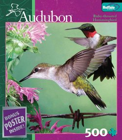 Ruby-Throated Hummingbird Audubon Birds 500 Piece Puzzle
