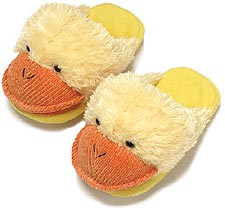Kids Dezi AniMules Fuzzy Yellow Duck Slippers - Toddler Size