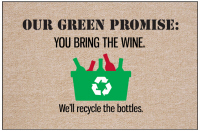 Our Green Promise Wine Doormat-Discontinued