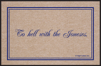 To Hell with the Jonses Doormat