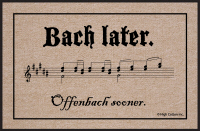 Bach Later Doormat