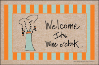 Welcome It's Wine O'clock Doormat - Discontinued
