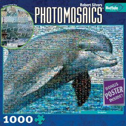 Dolphin 1000 Piece Jigsaw Puzzle Photomosaic by Robert Silvers