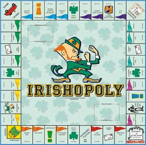 Irishopoly Notre Dame Monopoly Style Board Game