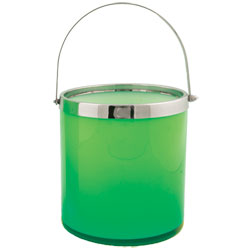 Classic Green Art Glass Ice Bucket