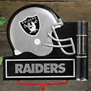 Oakland Raiders NFL Rain Gauge
