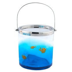 Art Glass Goldfish Ice Bucket