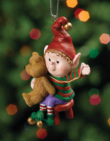 Sewing Bear Jingle Elves Ornament