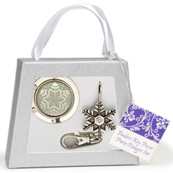 Finders Key Purse Snowflake Purse Hanger Gift Set
