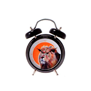 Present Time Lion Sound Alarm Clock