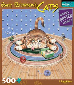 Happiness Gary Patterson's Cats 500 Piece Puzzle