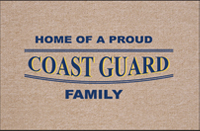 Proud Coast Guard Family Doormat