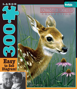 Fawn and Flowers Hautman Brothers Collection 300 Large Piece Puzzle